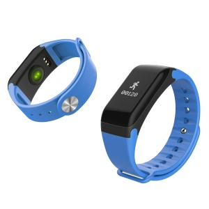 F1 0.66-inch Bluetooth 4.0 Fitness Tracker Smart Bracelet Watch Wristband with Heart Rate Monitor for IOS Android - Blue