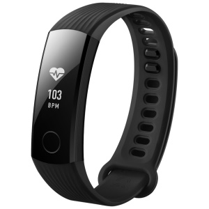 HUAWEI honorer bande 3 multiples-functional Wristband Support Dynamomètre cardiofréquenque podomètre etc.-Noir