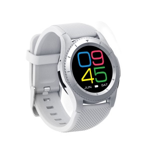 G8 1.3 Inch IPS Round Screen Bluetooth 2G Smart Watch Phone Support Multiple Languages - White