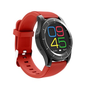 G8 1.3 Inch Screen Bluetooth Pedometer Calorie Consumption Distance Activity Tracker Smart Watch - Red