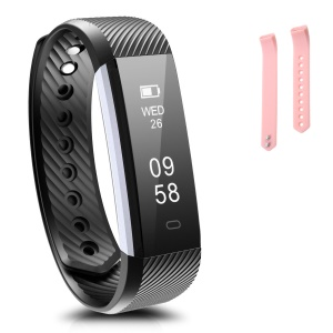 0.86 inch OLED HD Screen IP67 Waterproof Smart Wristband Bluetooth Activity Health Tracker - Pink