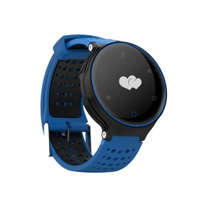 X2 Health and Sports Monitor 0.96 inch IP68 Waterproof  Bluetooth 4.0 Smart Watch with Silicone Band Strap - Blue