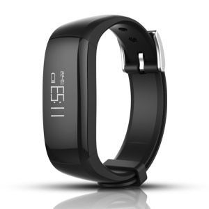 P6 Smart Waterproof Watch Bluetooth 4.0 Sports Wristband Bracelet with Sleep Monitoring Easy Cable-free USB Charging - Black