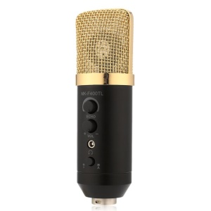 MK-F400TL Professional Condenser Microphone Large Diaphragm Studio Recording Microphone for Computer Mobile Phone
