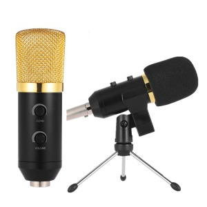 Audio USB Condenser Microphone Sound Recording Vocal Microphone - Gold