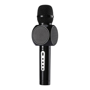 E103 Wireless Microphone Karaoke Player Party Home KTV Singing Record Bluetooth Speaker - Black
