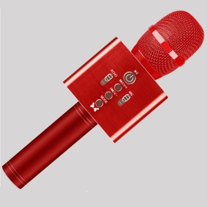 H1 Cellphone Bluetooth Wireless Karaoke KTV Singing Microphone Recorder, Support Android iOS - Red