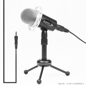 YANMAI Y20 3.5mm Plug Omnidirectional Condenser Microphone Gaming Podcast Microphone with Stand