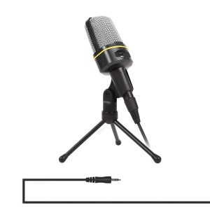 YANMAI SF-920 3.5mm Jack Mini Desktop Microphone with Tripod - Black