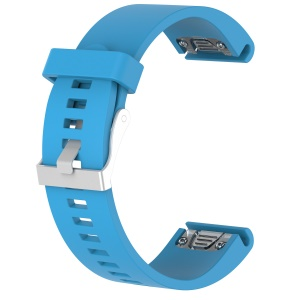 For Garmin fenix5s / quickfit Soft Silicone Rhombus Texture Wrist Watchband Watch Band Strap Replacement 20mm - Blue