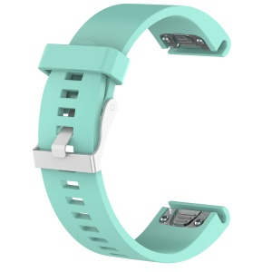 Rhombus Texture Soft Silicone Wrist Watchband Replacement for Garmin fenix5s / quickfit 20mm - Cyan