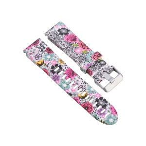 20mm Replacement Quick Fit Silicone Watch Band Strap for Garmin Fenix 5s - Colorful Flowers