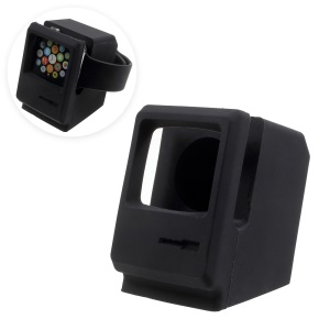 Silicone Desktop Mount Charging Stand for Apple Watch - Black
