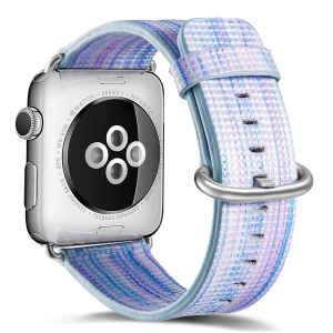 Multi-cor Genuine Leather Patterned Watch Strap Replacement para Apple Watch Series 3 / 2 / 1 42mm - estilo J