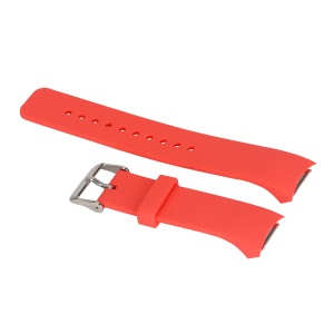 Flexible Silicone Watch Band Replacement for Samsung Galaxy Gear S2 R720/R730 - Peach