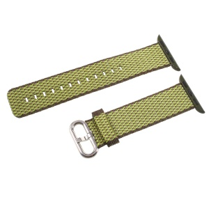 Nylon Watch Band Strap with Metal Buckle for Apple Watch Series 4 40mm, Series 3 / 2 / 1 38mm - Green