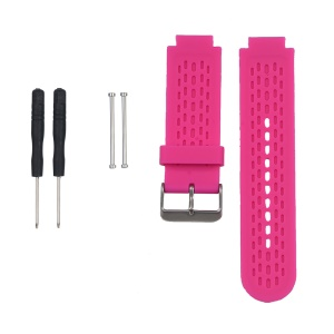 Silicone Watch Strap Replacement for Garmin Vivoactive Approach S2 S4 with Pins and Screwdrivers - Rose