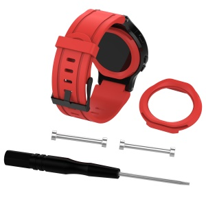 Replacement Silicone Watch Strap for Garmin Forerunner 225 - Red