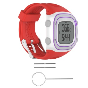 Silicone Slim Watch Band with Installation Tools for Garmin Forerunner 10 / Forerunner 20 - Red