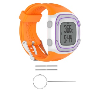 Silicone Soft Replacement Watch Band with Installation Tools for Garmin Forerunner 10 / Forerunner 20 - Orange