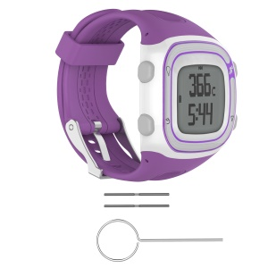 Silicone Soft Slim Watch Band with Installation Tools for Garmin Forerunner 10 / Forerunner 20 - Purple