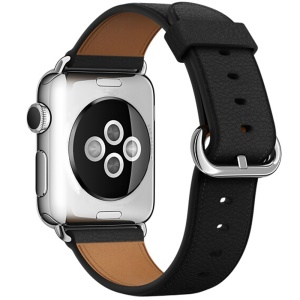 Cinturino Cinturino In Vera Pelle Litchi Per Apple Watch Serie 3/2/1 38mm - Nero