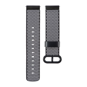 Metal Buckle Nylon Watch Band Replacement for Samsung Gear S2 Classic/Pebble Time Round/Motorola Moto 360/LG Watch etc. - Black