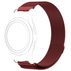 Magnetic Milanese Loop Stainless Steel Woven Watch Strap for Samsung Gear Fit2 R360 - Red