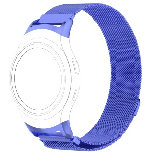 Magnetic Milanese Loop Stainless Steel Woven Wrist Watch Strap for Samsung Gear Fit2 R360 - Blue