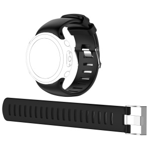 Flexible Silicone Watch Band Strap for Suunto D4i Novo Submersion Watch - Black