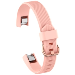 Adjustable TPU + TPE Watch Wrist Band, Length: 8.5 + 9cm for Fitbit Alta HR - Pink