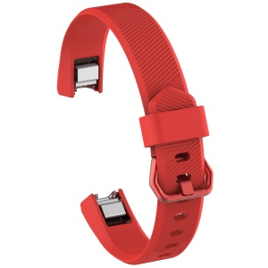 Adjustable TPU + TPE Watch Band Part Replacement for Fitbit Alta HR (10.5 +10 cm) - Red