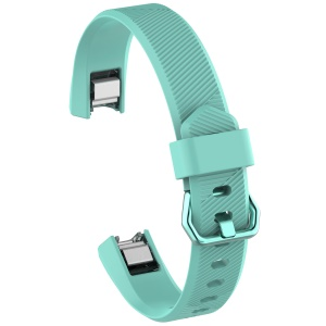 Adjustable TPU + TPE Watch Band with Metal Buckle for Fitbit Alta HR 10.5 +10 cm) - Cyan