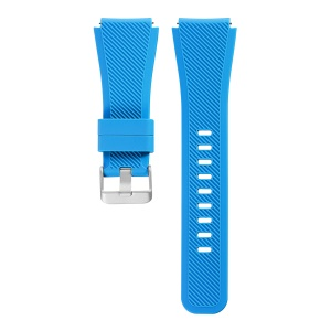 Soft Sports Silicone Watch Strap with Metal Buckle, Length: 19cm for Samsung Gear S3 Frontier - Baby Blue