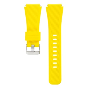 Adjustable Replacement Sport Strap for Samsung Gear S3 Frontier / S3 Classic / Fossil Q MARSHAL Gen2 - Yellow