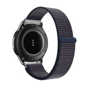 Nylon Velcro Closure Watch Strap Part Replacement for Samsung Gear S3 Classic/Frontier - Dark Blue