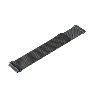 22mm Milanese Wrist Stainless Steel Watch Strap for Samsung Gear S3 - Black