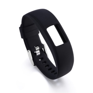 Flexible Adjustable Soft Silicone Watch Strap for Garmin Vivofit 4 - Size: S / Black