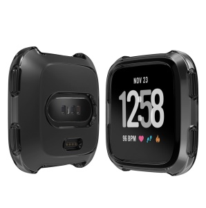 Soft Protective TPU Case Cover for Fitbit Versa - Black