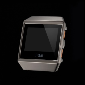 Electroplating Aluminum Alloy Watch Frame Case for Fitbit Ionic - Black