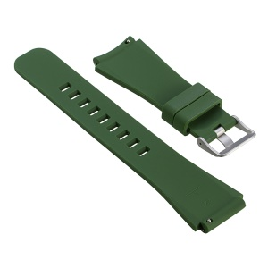Twill Texture Silicone Watch Sport Band for Fossil Q Marshal Gen 2 - Army Green / Size: L