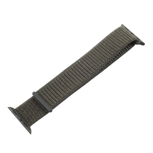 Velcro Magnetic Nylon Wristwatch Band for Apple Watch Series 4 40mm, Series 3 / 2 / 1 38mm - Army Green