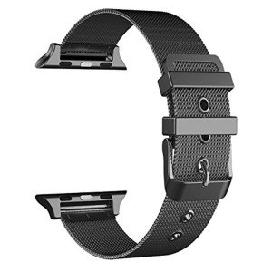 Classic Buckle Milanese Stainless Steel Watch Band for Apple Watch Series 4 40mm/3/2/1 38mm - Black