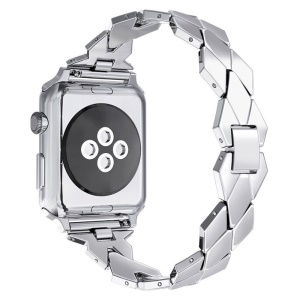 Rhombus Shaped Zinc Alloy Watch Replacement Band for Apple Watch Series 4 40mm, Series 3 / 2 / 1 38mm - Silver