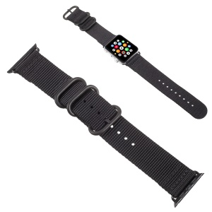 Buckle Closure Nylon Watchband for Apple Watch Series 3/2/1 42mm - Black