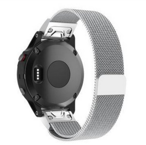 Milanese Metal Wristband Watch Strap Replacement for Garmin Fenix 5S - Silver