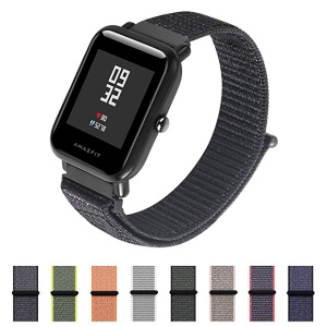 Nylon Velcro Closure Watch Strap for Huawei Watch 2 - Black