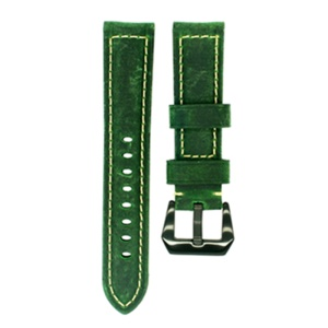 Vintage Genuine Leather Watch Replacement Watch Strap for Apple Watch Series 4 44mm, Series 3 / 2 / 1 42mm - Green