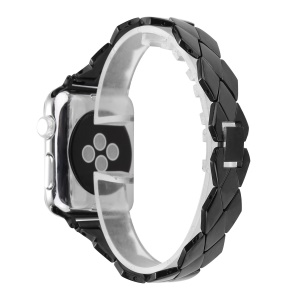 Rhombus Design Stainless Steel Watch Band for Apple Watch Series 3 / 2 / 1 38mm - Black