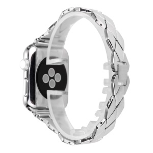 Rhombus Design Stainless Steel Watch Strap for Apple Watch Series 4 40mm / Series 3 2 1 38mm - Silver